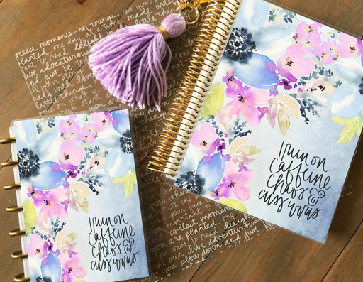 Caffeine and Chaos Planner Cover - Stylish & Co by Britt Mills