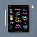 Stylish Planners Home Decor and Stylish Gifts - (Goodnotes File) Neon Digital Planner Stickers