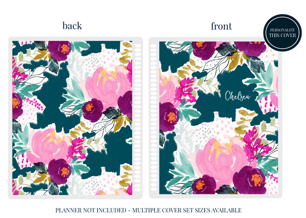 Stylish Planners Home Decor and Stylish Gifts - Popping Peonies Planner Cover