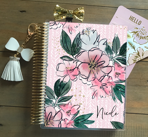 Stylish Planners Home Decor and Stylish Gifts - Pink Lace Planner Cover