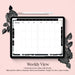 Stylish Planners Home Decor and Stylish Gifts - (GoodNotes File) Undated Black Bloom Deluxe Digital Planner - 12 months (Vertical Layout)