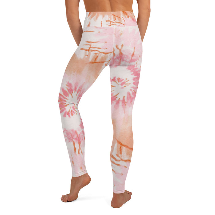 Stylish Planners Home Decor and Stylish Gifts - Pink Tie Dye - So Soft Adult Yoga Leggings (Matching Mommy + Me Design)