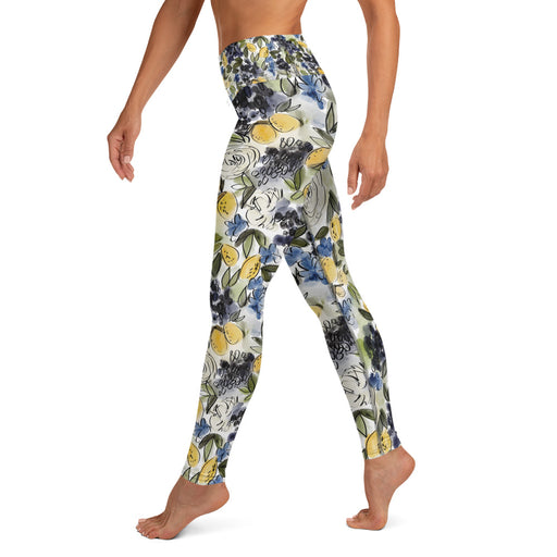 Stylish Planners Home Decor and Stylish Gifts - Citrus Chic - So Soft Adult Yoga Leggings (Matching Mommy + Me Design)