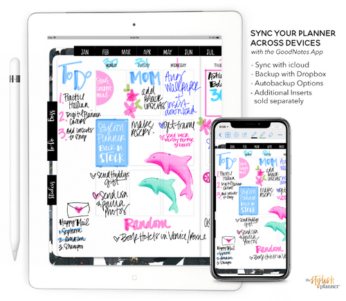 Styled Neutral Vertical Digital Planner - Undated 12 months