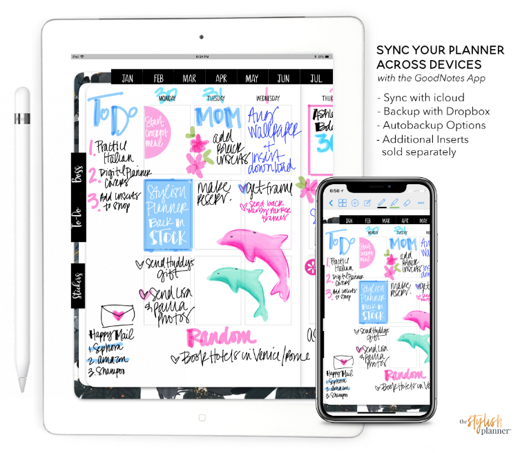 Build Your Own 12-month Planner - Digital Planner - Stylish Planner