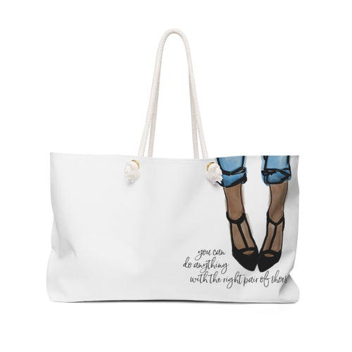 With The Right Pair Of Shoes (Dark Skin) Weekender Bag