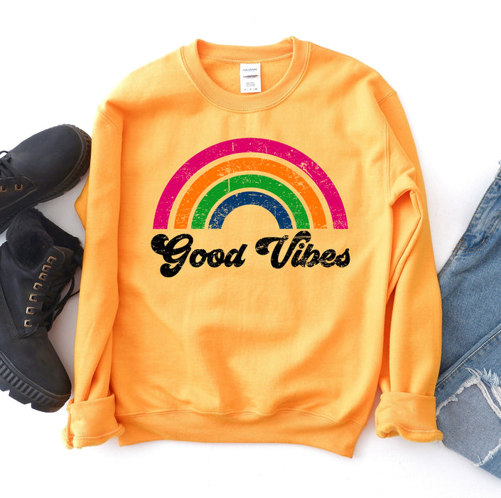 Stylish Planners Home Decor and Stylish Gifts - Good Vibes Sweatshirt