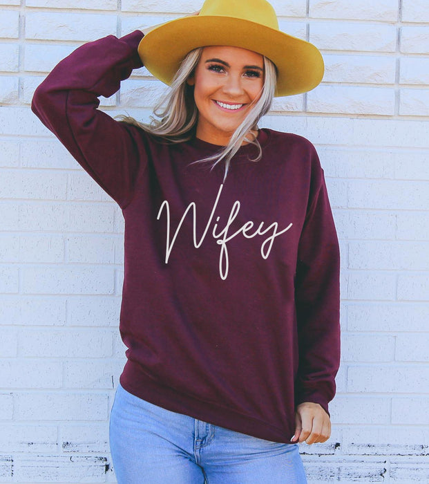 Stylish Planners Home Decor and Stylish Gifts - Wifey Sweatshirt