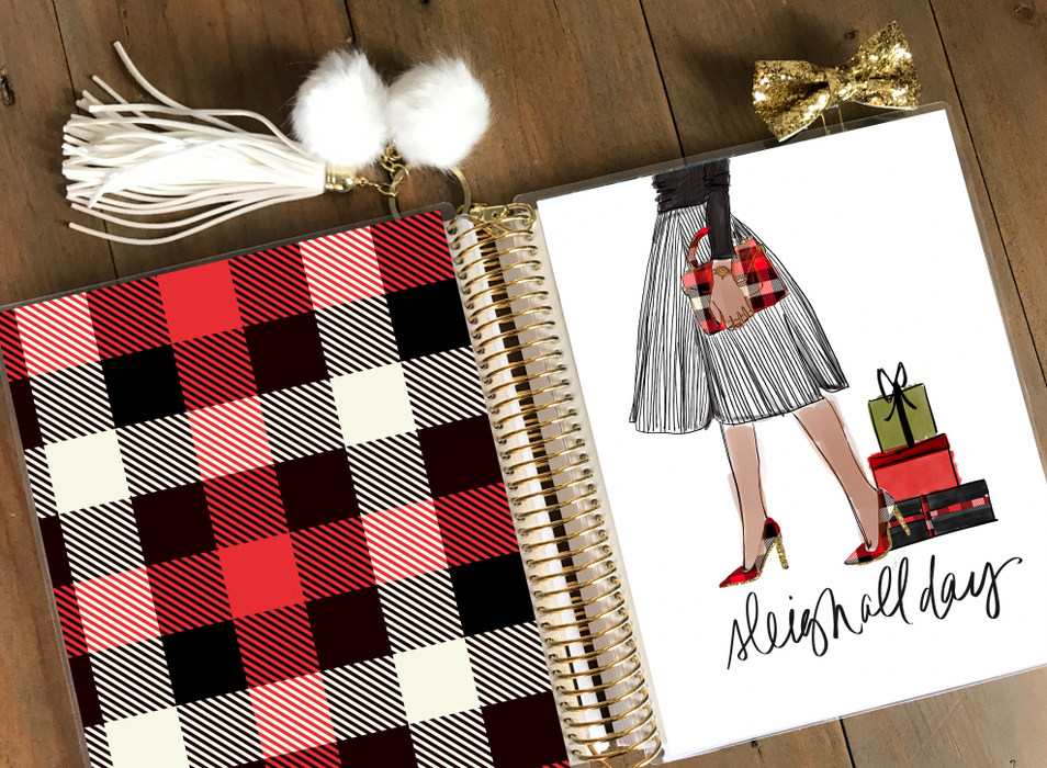 Stylish Planners Home Decor and Stylish Gifts - PRINTABLE Stylish Planner™ Cover Set - Sleigh All Day Girl (DarkSkin)