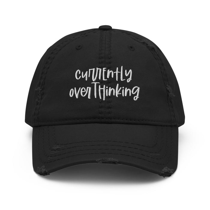 Stylish Planners Home Decor and Stylish Gifts - Currently Overthinking Distressed Hat