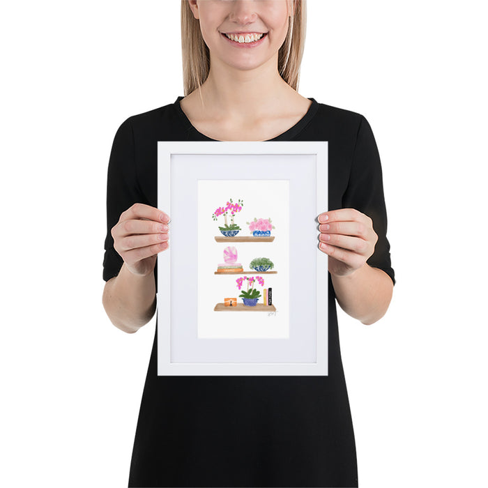 Orchid Love - Framed Artwork With Mat