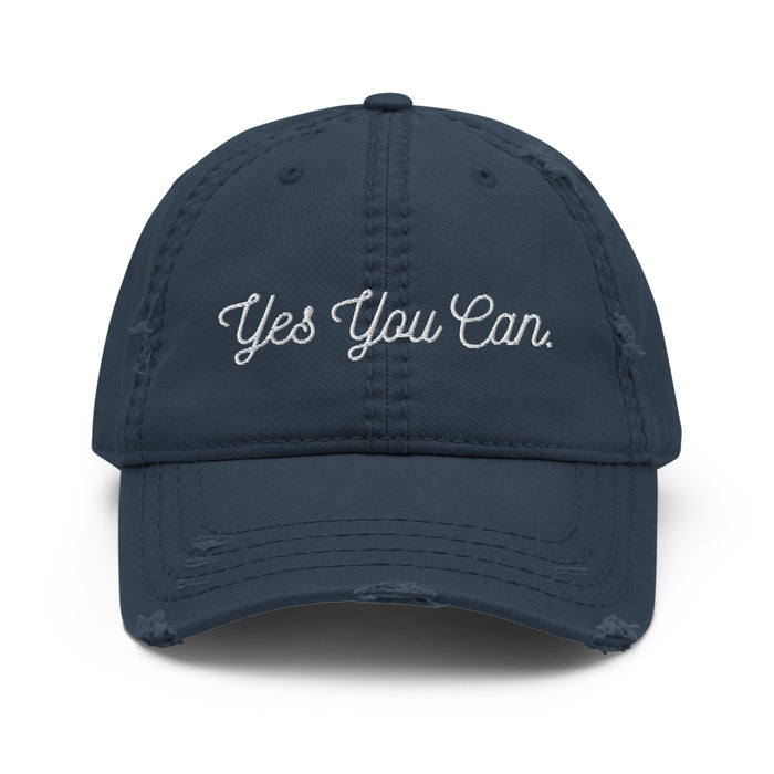 Stylish Planners Home Decor and Stylish Gifts - Yes You Can Distressed Hat