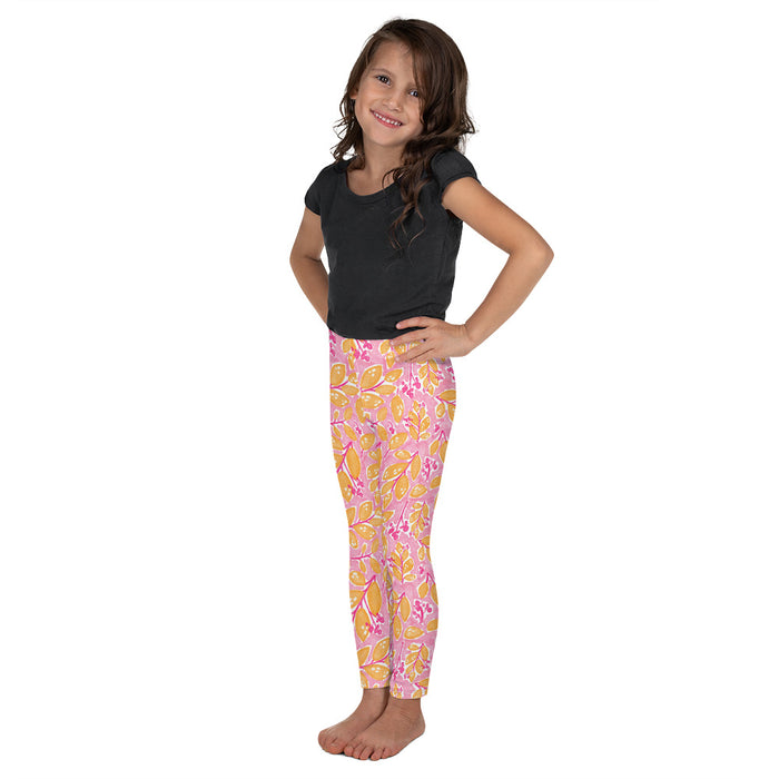 Stylish Planners Home Decor and Stylish Gifts - Pink Paradise - So Soft Kid's Leggings (Matching Mommy + Me Design)