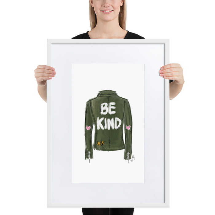 Be Kind - Framed Artwork With Mat