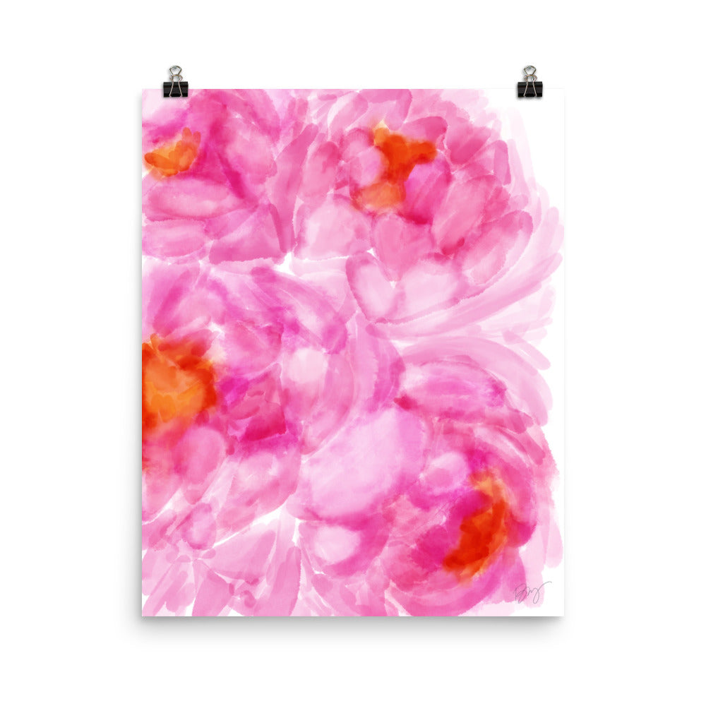 Stylish Planner and Stylish Gifts - (Various Sizes) Pink Love - Wall Print Frame Not Included