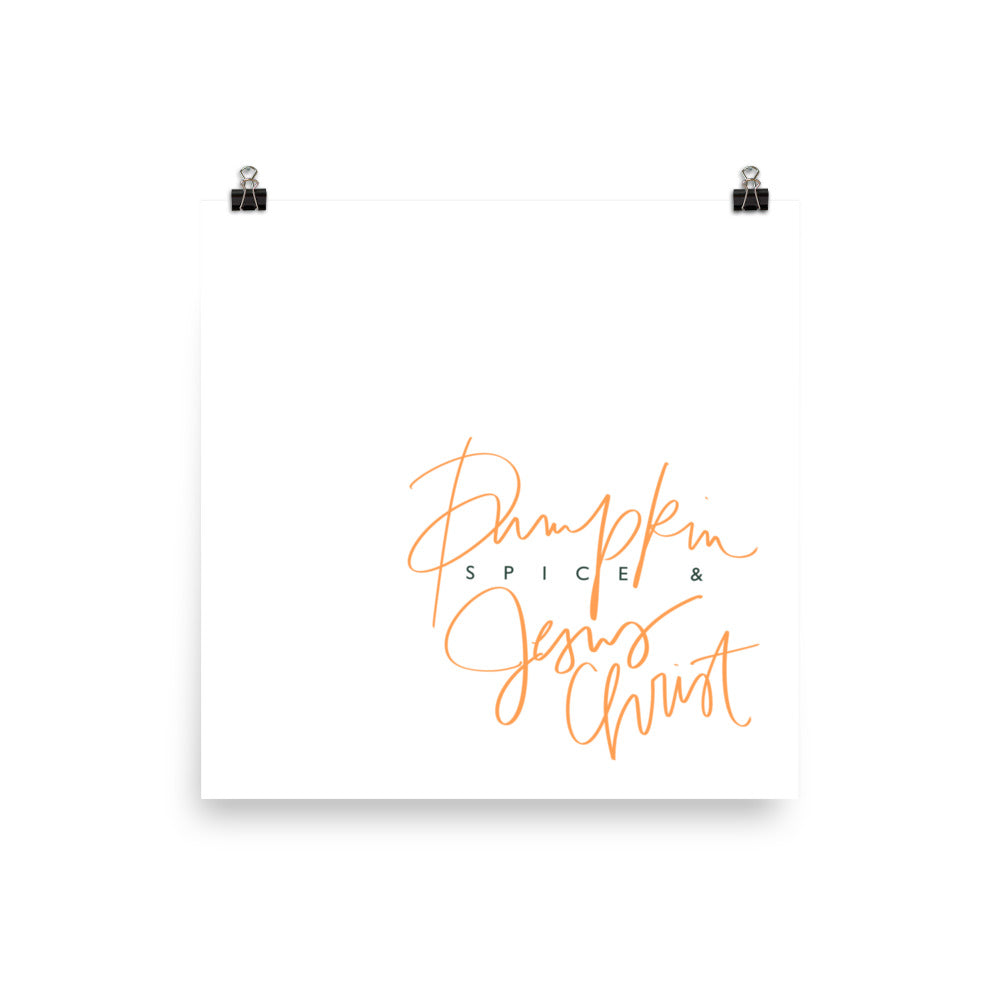 Stylish Planner and Stylish Gifts - (Various Sizes) Pumpkin Spice - Wall Print Frame Not Included