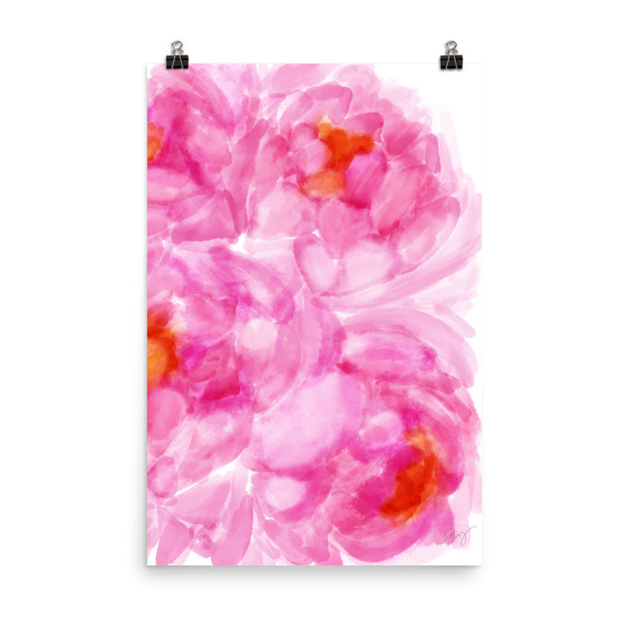 Stylish Planners Home Decor and Stylish Gifts - Pink Love - Stylish & Co Print (Frame Not Included)
