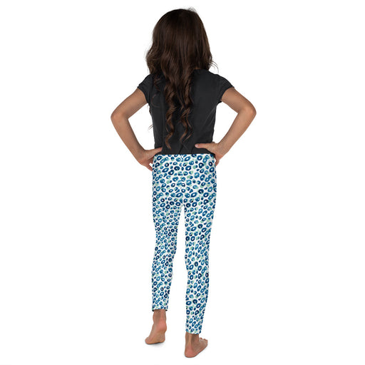 Stylish Planners Home Decor and Stylish Gifts - Aqua Spots - So Soft Kid's Leggings (Matching Mommy + Me Design)
