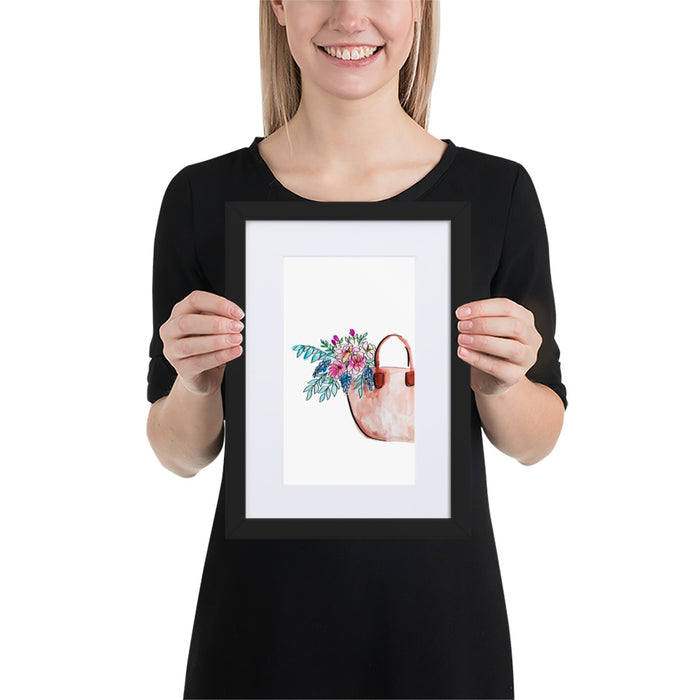 Fresh Bunch of Peonies - Framed Artwork With Mat