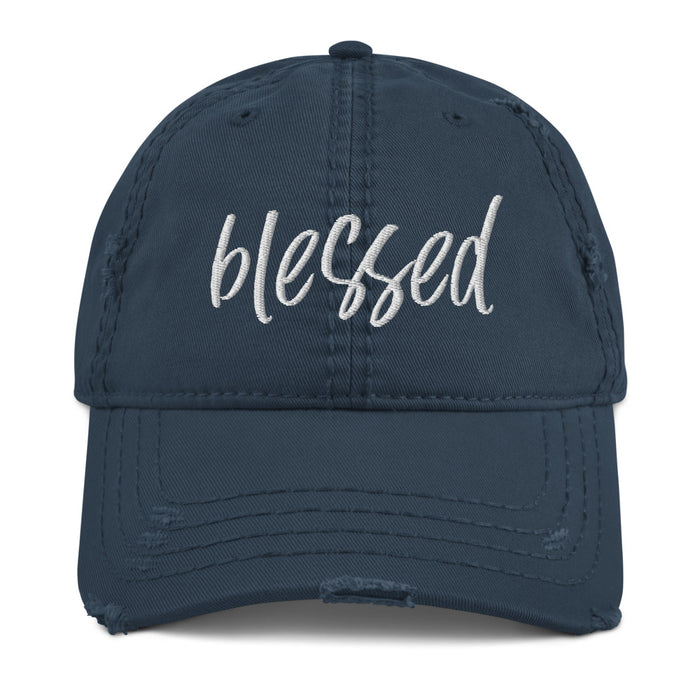 Stylish Planners Home Decor and Stylish Gifts - Blessed Distressed Hat