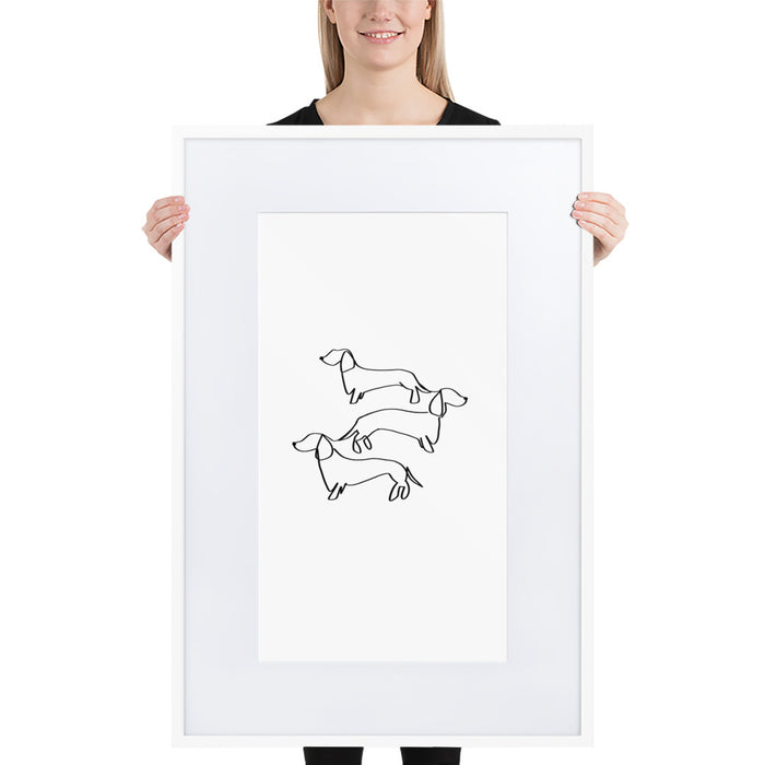 Doxie Love - Framed Artwork With Mat