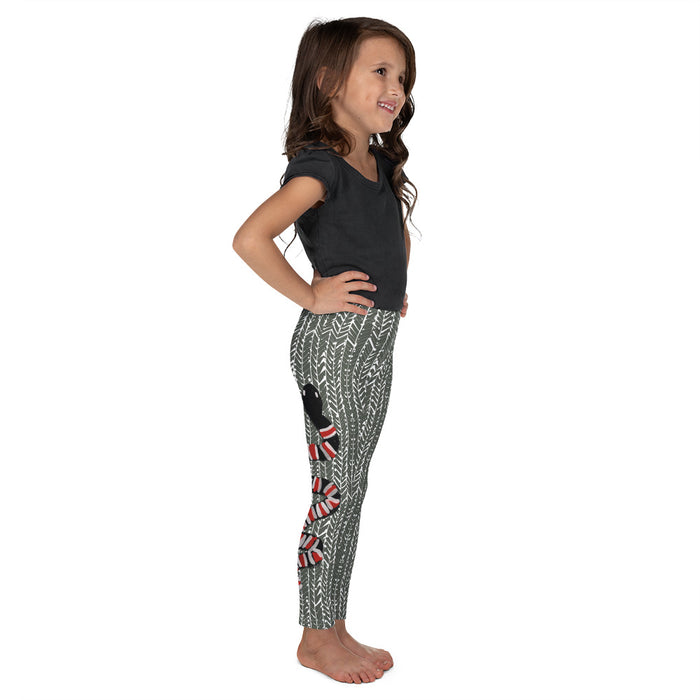 Stylish Planners Home Decor and Stylish Gifts - Serpent (Green) - So Soft Kid's Leggings (Matching Mommy + Me Design)
