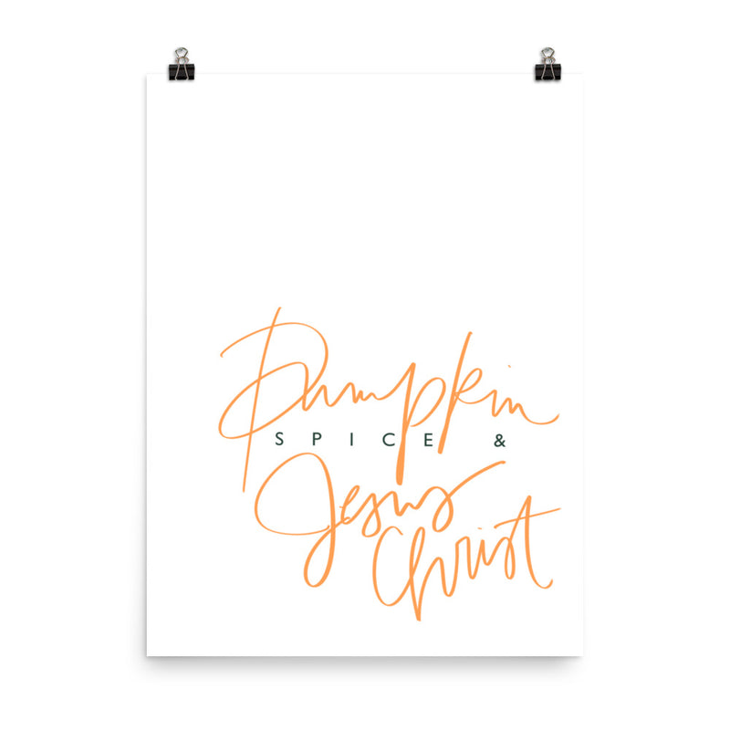 Stylish Planners Home Decor and Stylish Gifts - (Various Sizes) Pumpkin Spice - Wall Print Frame Not Included