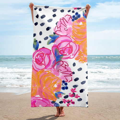 Tropic Nights Beach Towel (Hand-painted by Britt)