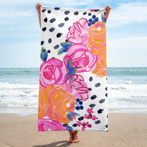Stylish Planners Home Decor and Stylish Gifts - Tropic Nights Beach Towel (Hand-painted by Britt)