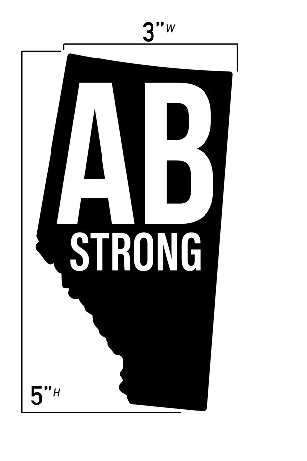 AB Strong Province decal