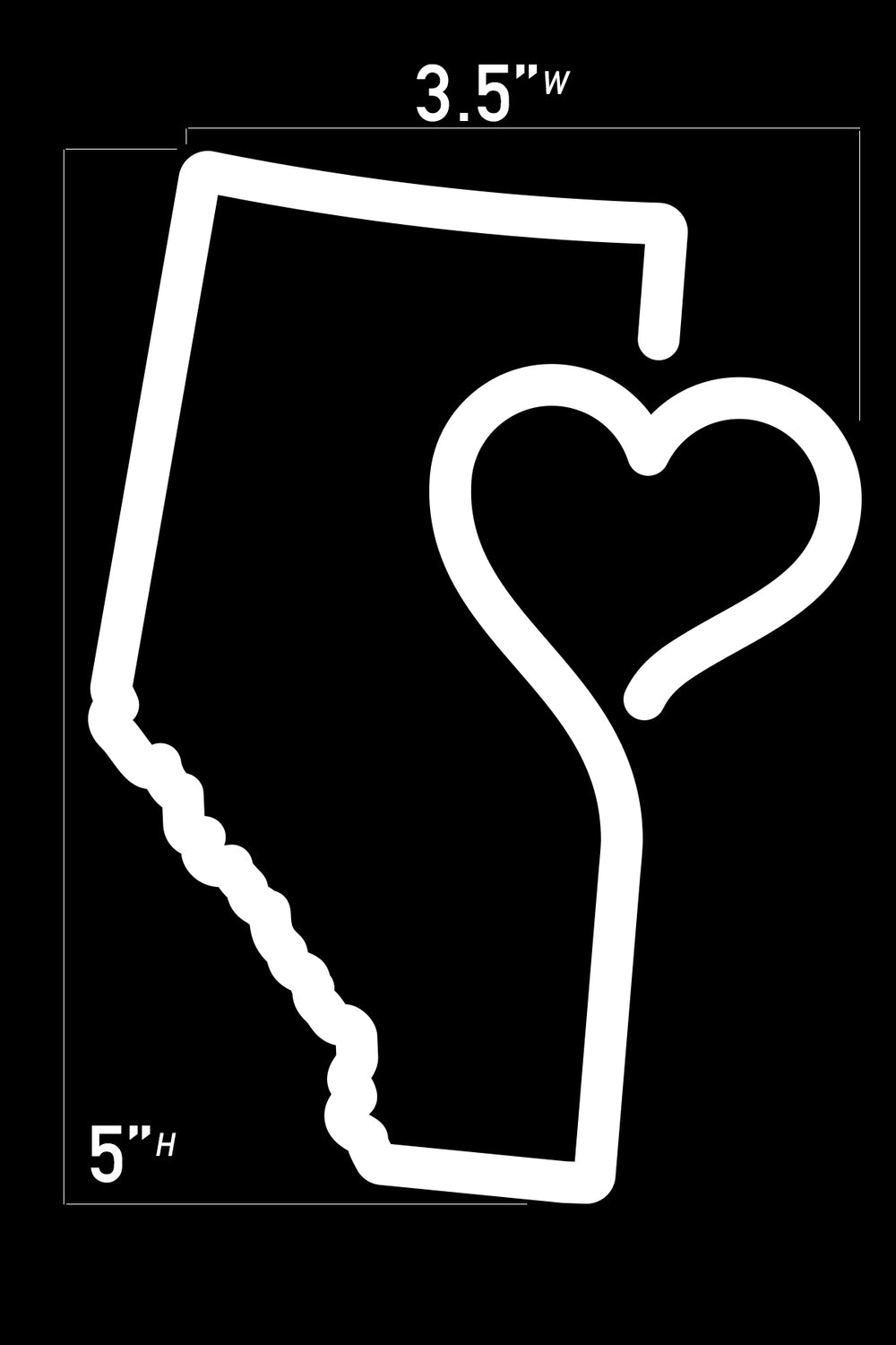 Heart of Alberta Vehicle Decal 5""