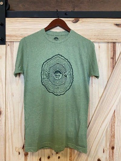 Tree Rings  / Green /  Available in S