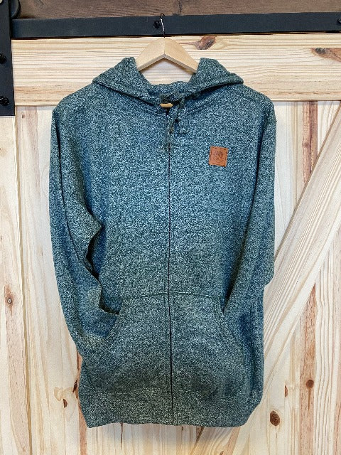 Zip-Up Forest Hoodie / Available in S, M, L