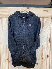 Zip-Up Hoodie Black / Available in S, M, L