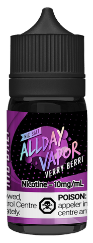 All Day Vapor Nic Salt - Verry Berri (30ml)
