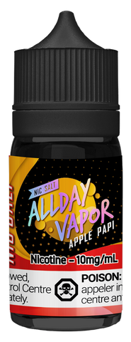 All Day Vapor Nic Salt - Apple Papi (30ml)