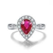 1.01ct Certified Natural Pear Cut Ruby - Loose Gem