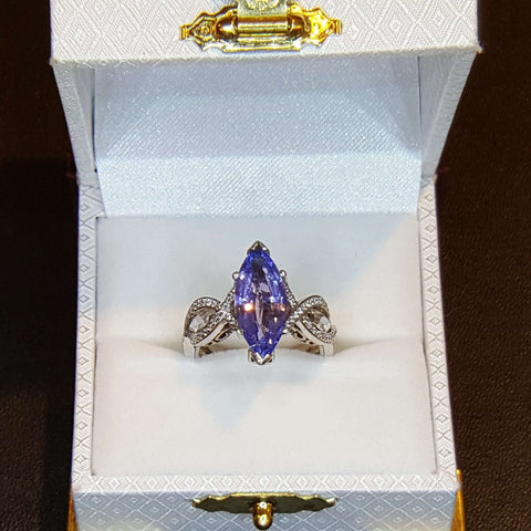Marquise Violet Blue Tanzanite