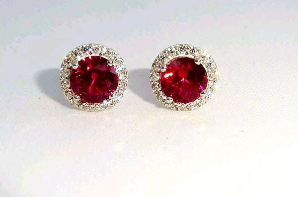 Enhanced Ruby cluster earrings