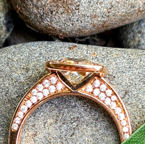 Rose Gold Valerian Rhiana Ring - SALE