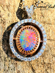 Double Sided Opal Pendant- Custom 0064