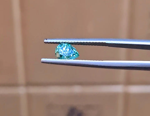 True Teal Valerian Moissanite