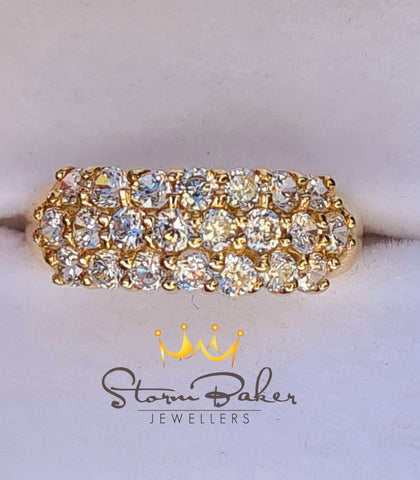 Diamond Cluster Band - Custom 0105