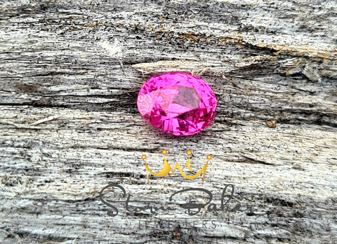 Neon Pink .60ct Natural Sapphire - Loose Gem