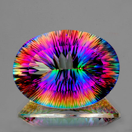 25x18 mm Oval ConCave Cut AAA Multi Color Mystic Quartz Natural