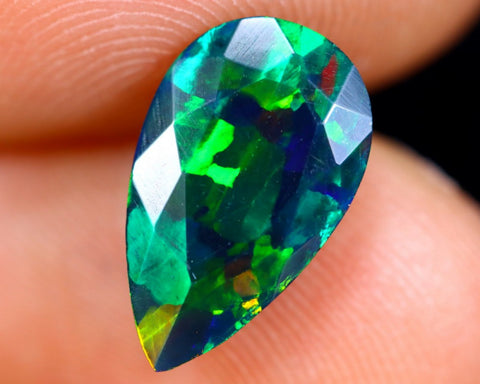 1.48ct Natural Faceted Smoked Opal