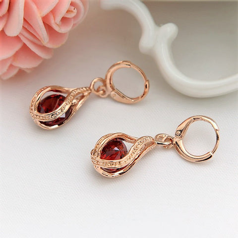Rose Gold Cage Earrings