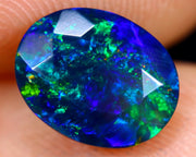 1.54cts Natural Faceted Smoked Opal
