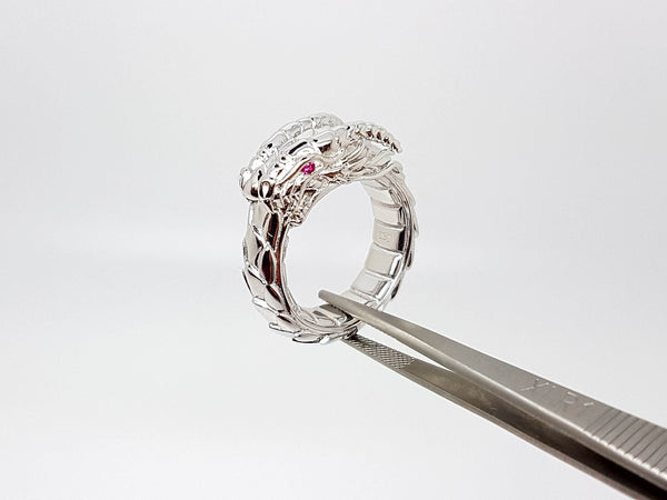 Ouroboros Dragon Ring - Silver
