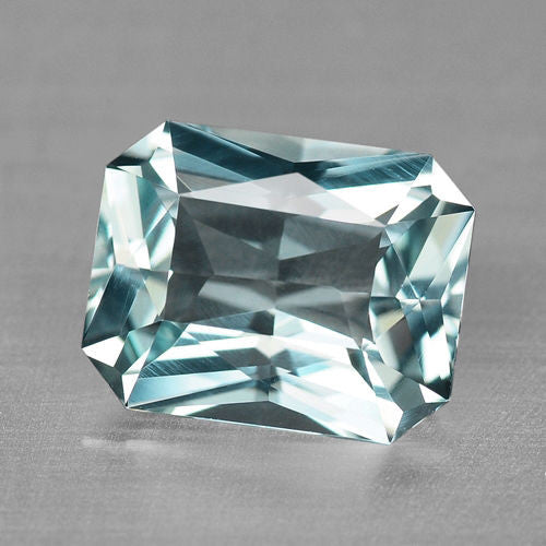 1.96ct Natural Flawless Emerald Cut Aquamarine